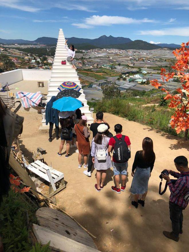Một góc đông đúc của khách du lịch Đà Lạt
